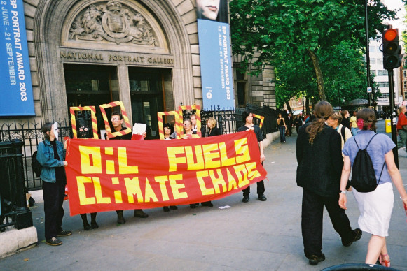 1st protest vs. BP at NPG (2003)